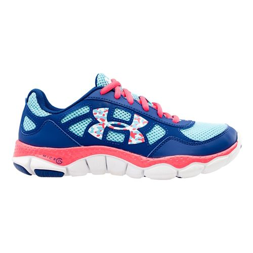 Kids Under Armour Girls GS Micro G Engage BL Running Shoe - American Blue 6.5 ...