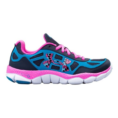 Kids Under Armour Girls GS Micro G Engage BL Running Shoe - Black 6