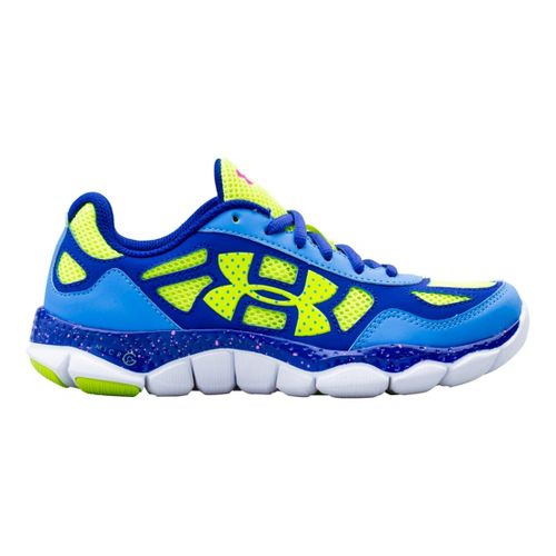 Kids Under Armour Girls GS Micro G Engage BL Running Shoe - Water 3.5