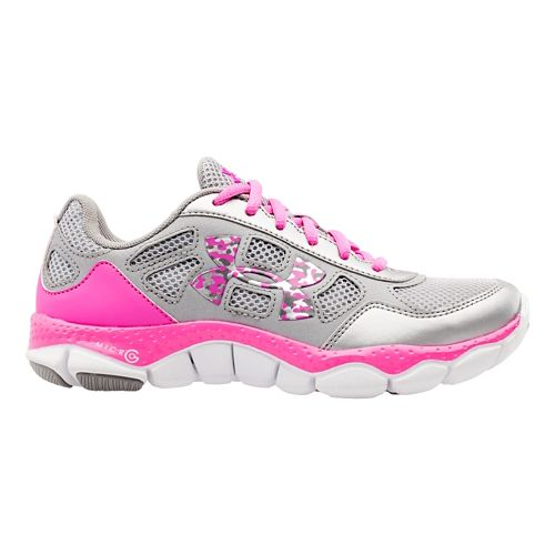 Kids Under Armour Girls GS Micro G Engage BL Running Shoe - Mosaic/Crystal 5
