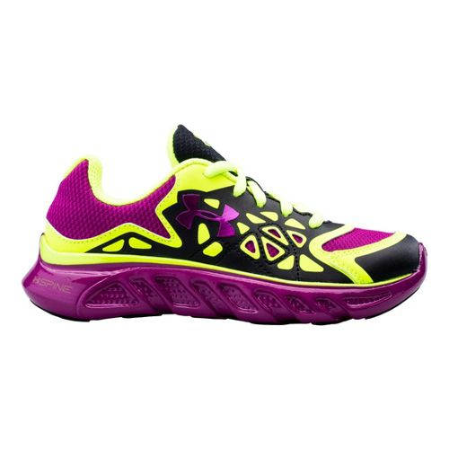 Kids Under Armour Girls PS Spine Surge Running Shoe - Black 2.5