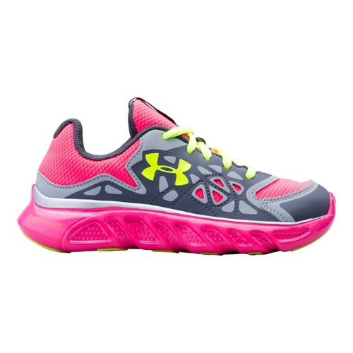 Kids Under Armour Girls PS Spine Surge Running Shoe - Graphite 11.5