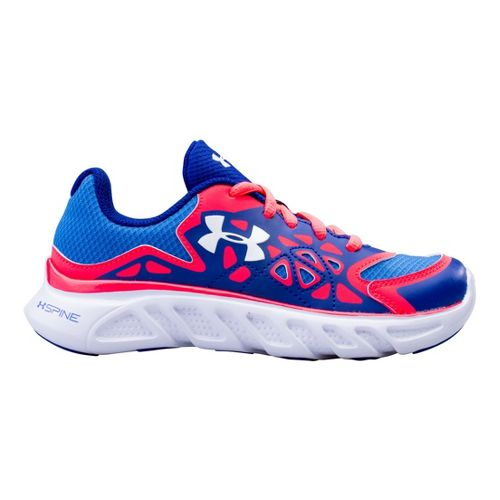 Kids Under Armour Girls PS Spine Surge Running Shoe - Siberian Iris 1