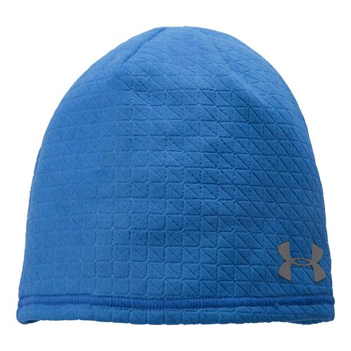 Mens Under Armour Emboss Run Beanie Headwear - Scatter