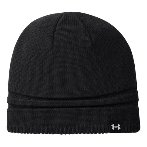 Mens Under Armour Reflective Beanie Headwear - Black