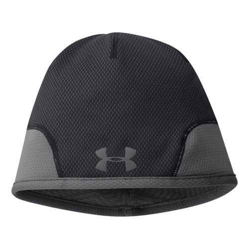 Mens Under Armour Tech Beanie Headwear - Black