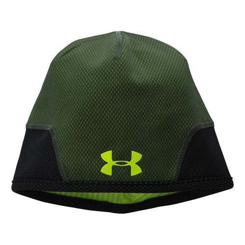 Mens Under Armour Tech Beanie Headwear - Rifle Green