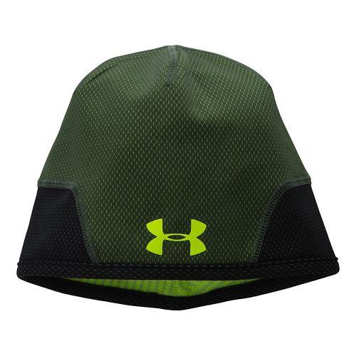 Mens Under Armour Tech Beanie Headwear - Rifle Green