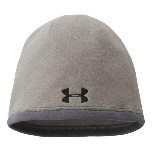 Mens Under Armour Elements Beanie Headwear - True Grey Heather