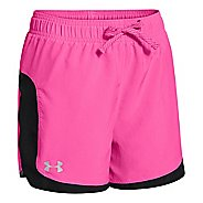 Kids Under Armour Girls Stunner Solid Splits Shorts