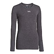 Kids Under Armour Girls Coldgear Infared Crew Long Sleeve No Zip Technical Tops