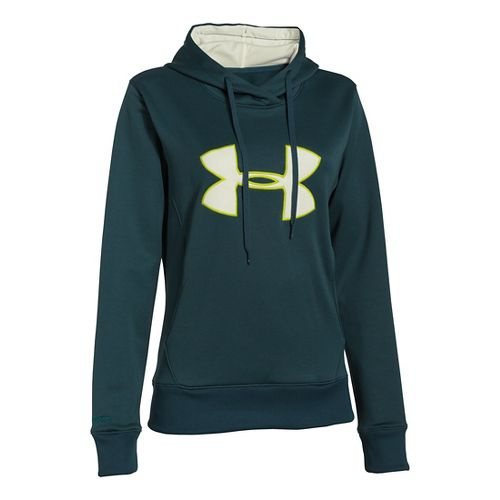 Womens Under Armour Big Logo Applique Hoody Warm-Up Hooded Jackets - Batik S