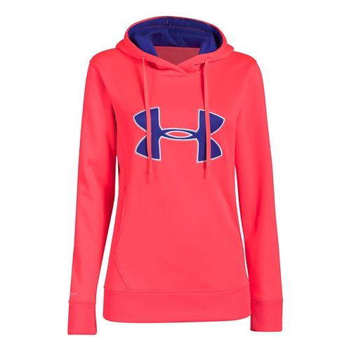 Womens Under Armour Big Logo Applique Warm-Up Hooded Jackets - Neo Pulse M