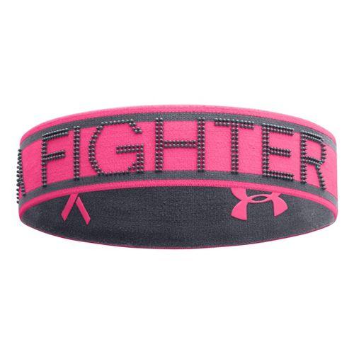 Womens Under Armour 2N1 PIP Reversable Headband Headwear - Cerise