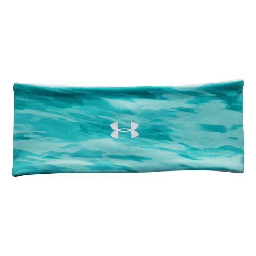 Womens Under Armour Reverse To Print Headband Headwear - Aquaduct