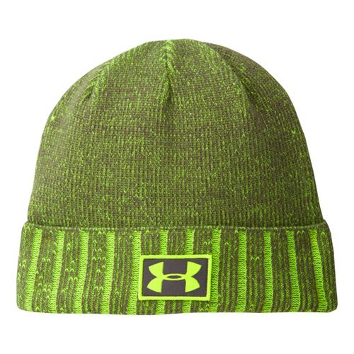 Mens Under Armour Cuff Beanie Headwear - Graphite