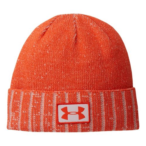 Mens Under Armour Cuff Beanie Headwear - Volcano