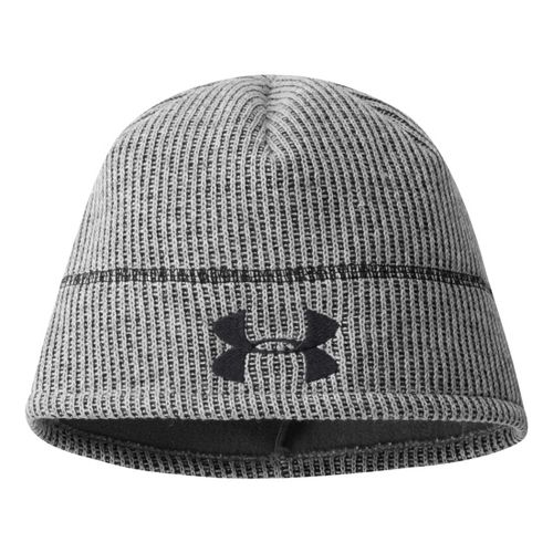 Mens Under Armour Watchman Beanie Headwear - True Grey Heather