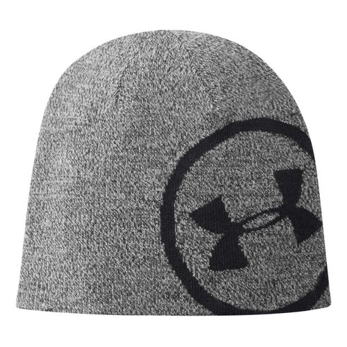 Mens Under Armour Billboard Beanie Headwear - True Grey Heather