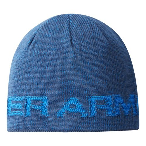 Mens Under Armour Wordmark Beanie Headwear - Academy