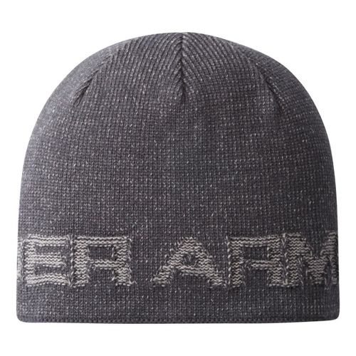 Mens Under Armour Wordmark Beanie Headwear - Black
