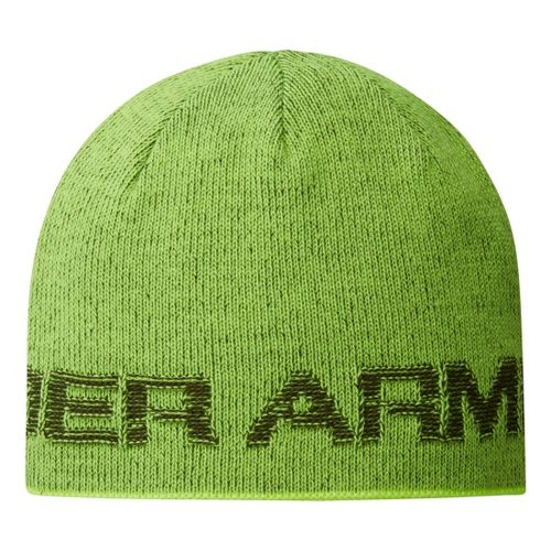 Mens Under Armour Wordmark Beanie Headwear - Rifle Green