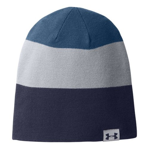 Mens Under Armour 4 In 1 Stripe Beanie Headwear - Midnight Navy