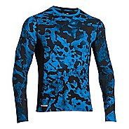 Mens Under Armour HG Sonic Fitted Printed Long Sleeve No Zip Technical Tops