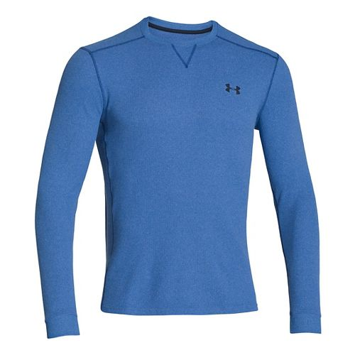 Mens Under Armour Amplify Thermal Long Sleeve No Zip Technical Tops - Scatter/Academy S