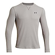 Mens Under Armour Amplify Thermal Long Sleeve Technical Tops - Black/Black M