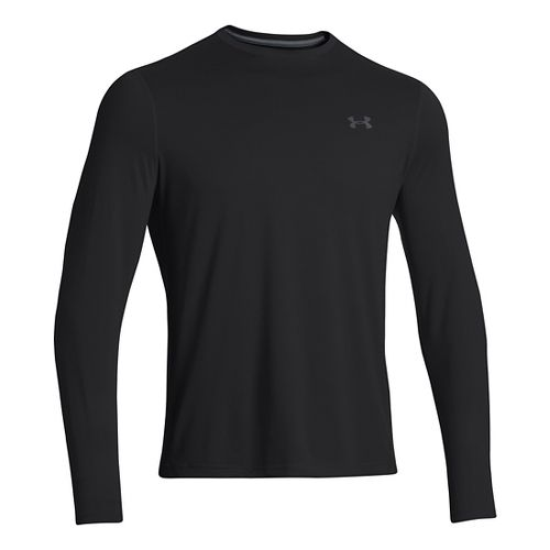 Mens Under Armour Longsleeve Tech T 2.0 Long Sleeve No Zip Technical Tops - Black/Black ...