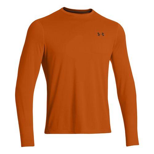 Mens Under Armour Longsleeve Tech T 2.0 Long Sleeve No Zip Technical Tops - Orange ...