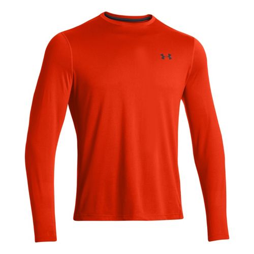 Mens Under Armour Longsleeve Tech T 2.0 Long Sleeve No Zip Technical Tops - Volcano/Anthracite ...