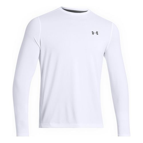 Mens Under Armour Longsleeve Tech T 2.0 Long Sleeve No Zip Technical Tops - White/Graphite ...