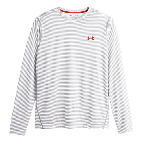 Mens Under Armour Longsleeve Tech T 2.0 Long Sleeve No Zip Technical Tops - White ...