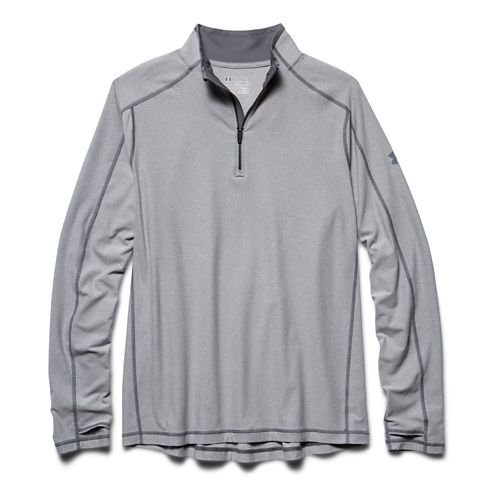 Mens Under Armour Elevated Ultimate 1/4 Zip Long Sleeve 1/2 Zip Technical Tops - True ...