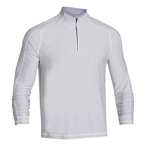 Mens Under Armour Elevated Ultimate 1/4 Zip Long Sleeve 1/2 Zip Technical Tops - Silver ...