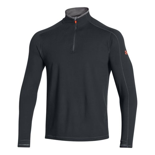 Mens Under Armour Elevated Ultimate Long Sleeve 1/2 Zip Technical Tops - Anthracite/Graphite S