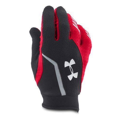 Mens Under Armour Escape ColdGear Infrared Gloves Handwear - Black/Red S
