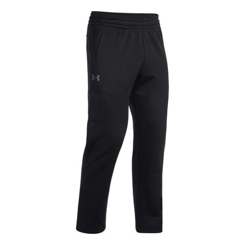 Mens Under Armour Armour Fleece Storm Graphic Cargo Full Length Pants - Black/Graphite MT