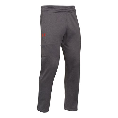 Mens Under Armour Armour Fleece Storm Graphic Cargo Full Length Pants - Carbon Heather/Volcano ...