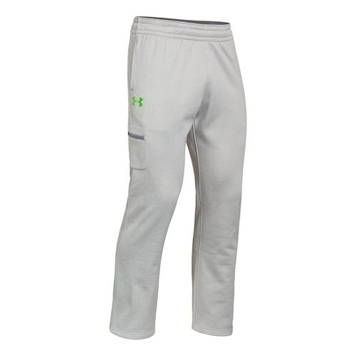 Mens Under Armour Armour Fleece Storm Graphic Cargo Full Length Pants - True Grey Heather/Gecko ...