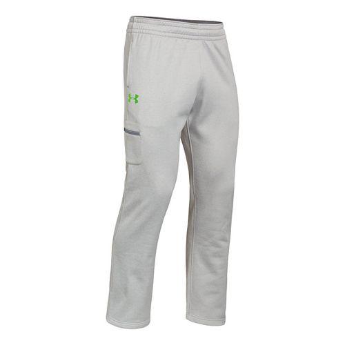 Mens Under Armour Armour Fleece Storm Graphic Cargo Full Length Pants - True Grey Heather/Gecko ...