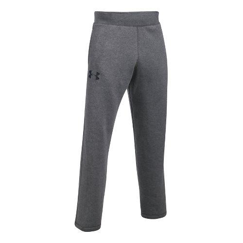 Mens Under Armour Rival Cotton Pants - Carbon Heather/Black 3XL