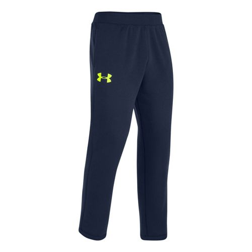 Mens Under Armour Rival Cotton Full Length Pants - Academy/High Vis Yellow S