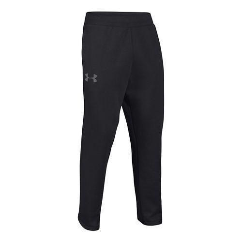 Mens Under Armour Rival Cotton Full Length Pants - Black/Graphite L