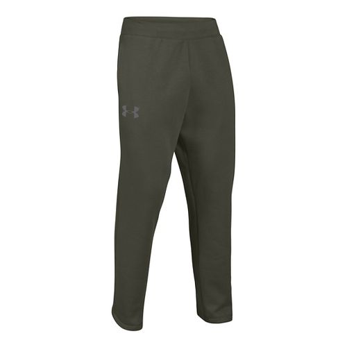 Mens Under Armour Rival Cotton Full Length Pants - Rifle Green/Graphite L