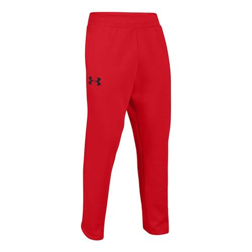 Mens Under Armour Rival Cotton Full Length Pants - Risk Red/Black XL