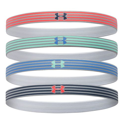 Womens Under Armour Reflective Mini Headbands 4-Pack Headwear - After Burn/Crystal