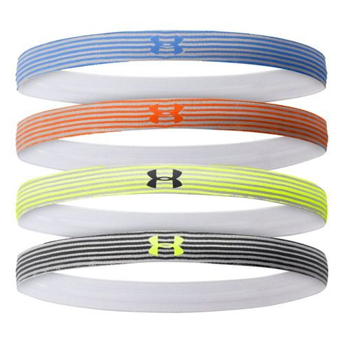 Womens Under Armour Reflective Mini Headbands 4-Pack Headwear - Sail Blue